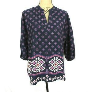 Collective Concepts (M) Navy Blue Blouse Relax Fit